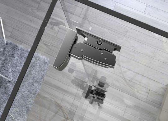 Cerniera per applicazioni su vetro Sensys