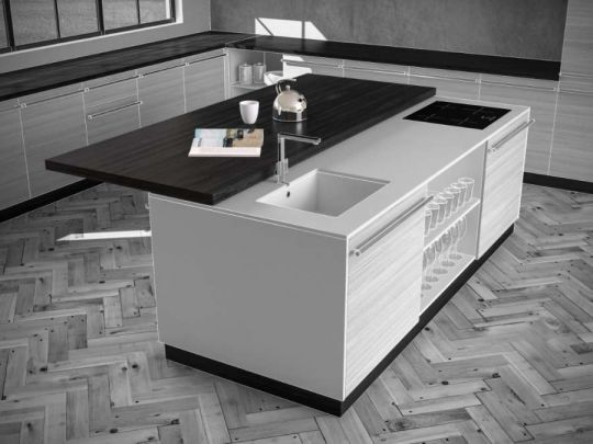 Plana, sistema di scorrimento per tavoli