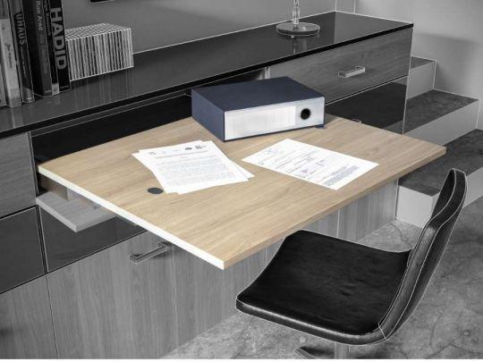 Sunrise 40, sistema estraibile per tavolo senza gamba