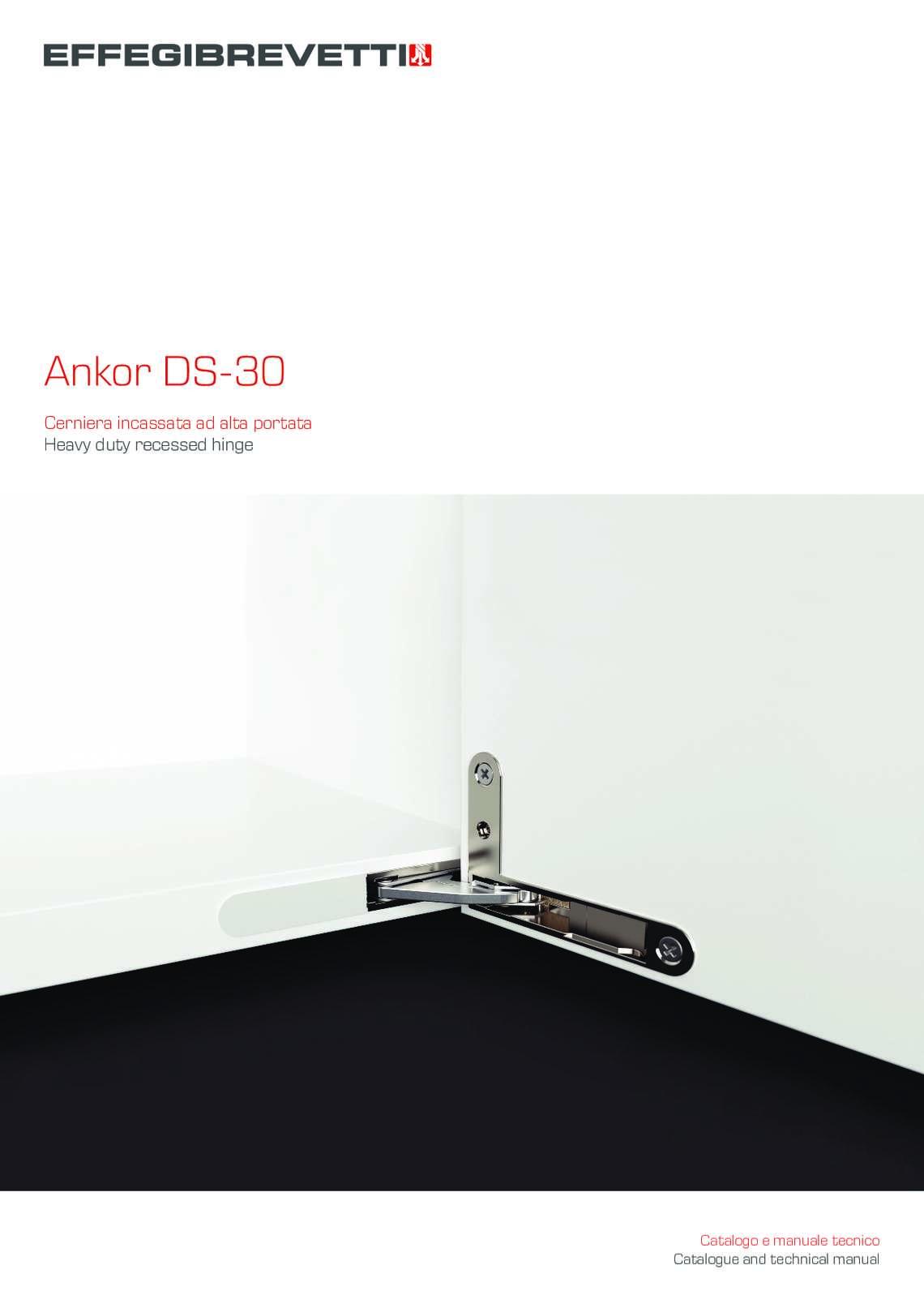Ankor DS-30 Cerniera ad alta portata Effegibrevetti