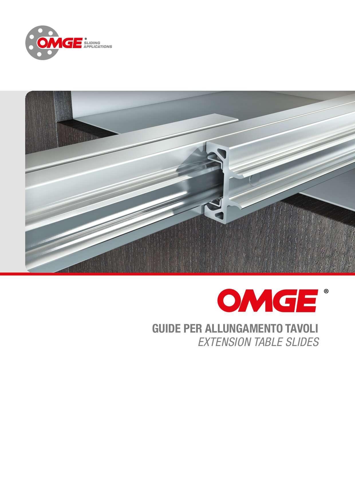 Catalogo guide per allungamento tavoli di OMGE