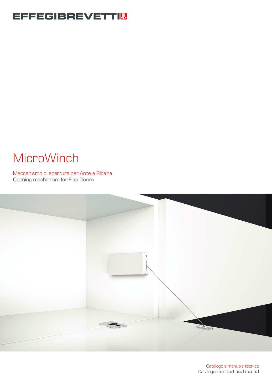 MicroWinch Meccanismo per Ante a Ribalta Effegibrevetti