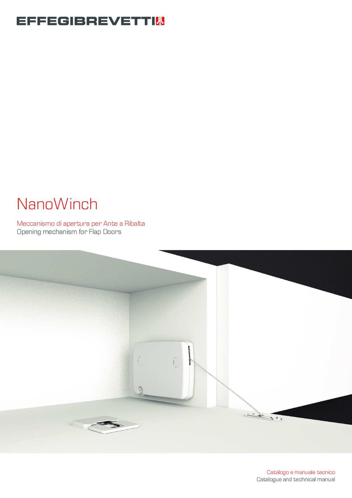 NanoWinch Meccanismo per ante a ribalta Effegibrevetti