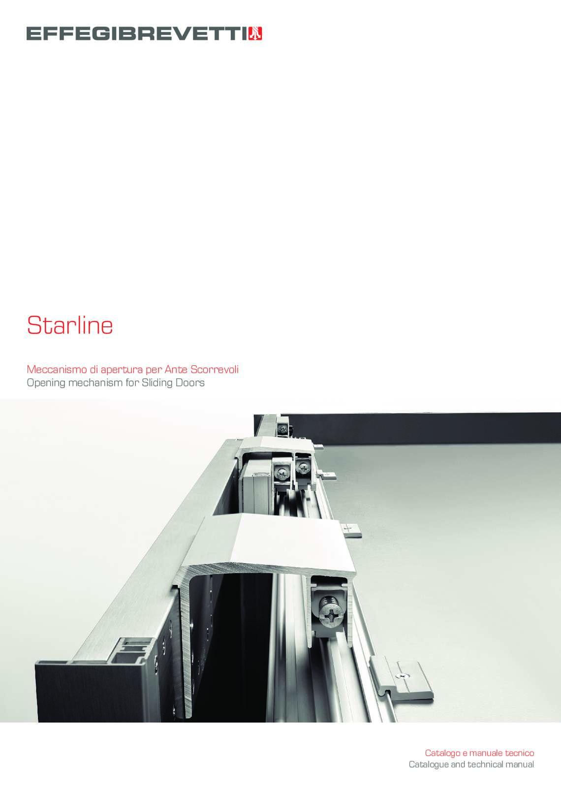 Starline Meccanismo Ante scorrevoli Effegibrevetti