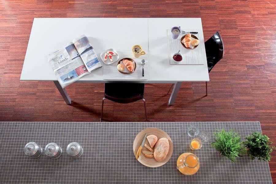 Capri, tavolo rettangolare con prolunga