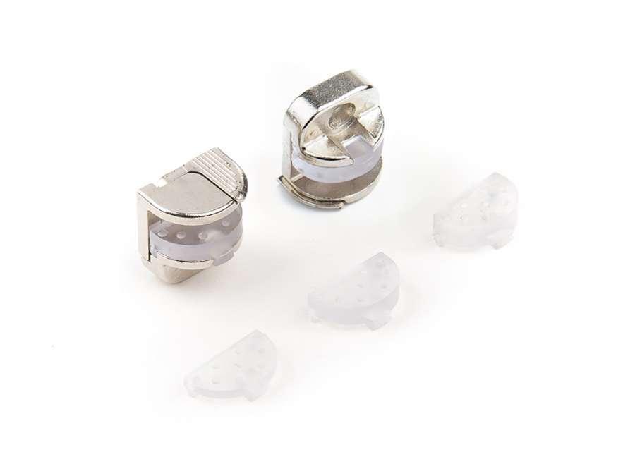 Supporti per pannelli di vetro e cristallo con meccanismo bloccante Alfa Glass Lock